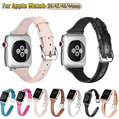 Fashion Women Genuine Leather Thin Band Bracelet Strap For Apple Watch 5 4 3 2 1