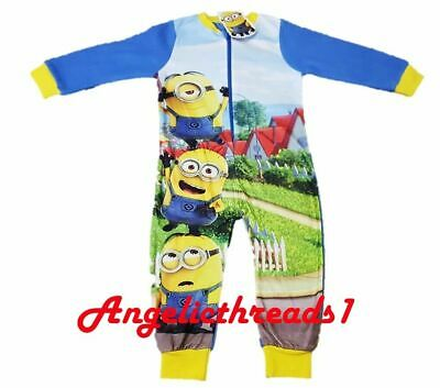 Primark Boys Despicable Minion Jumpsuit All In One Pyjamas Nightwear Sleepsuit