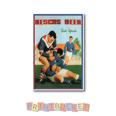 Reschs Rugby Easts vs Newtown sticker 150mm quality water/ fade proof vinyl
