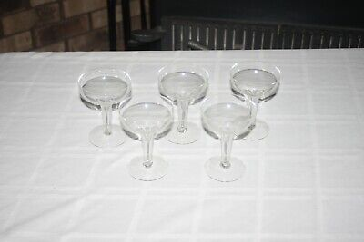 5 HOLLOW STEM CHAMPAGNE GLASSES Coupes Party Wedding toasting Set of 5