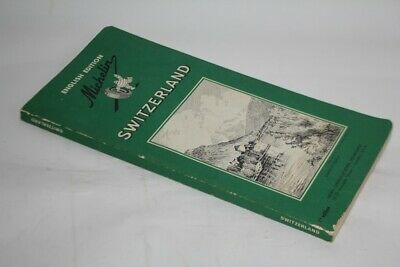 Green Guide MICHELIN Switzerland English edition Suisse 1958 (45559)