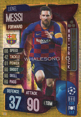 Match Attax 2019/20 19/20 Lionel Messi Hat Trick Hero Trading Card - Barcelona