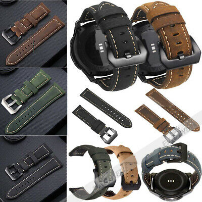 US Genuine Leather Band Strap For Samsung Galaxy Watch 42/46mm Active 2 40/44mm