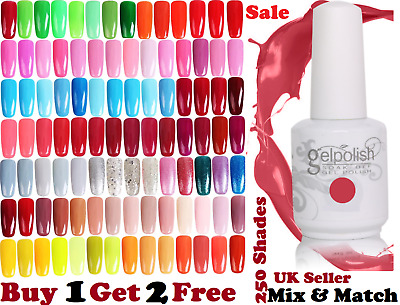 Colour Gel Nail Polish Lacquer UV LED Manicure No Wipe Top Coat Base Coat