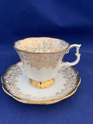 Vintage Royal Albert, Bone China Tea Cup & Saucer, Made In England, Gold Chintz