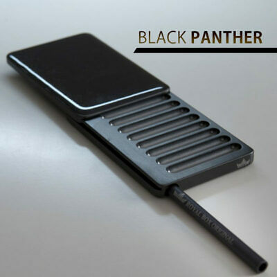 Black Panther Snuff Dispenser Tobacco Box Snorter Collectable Straw Snuffer