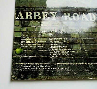 The Beatles - Abbey Road UK 1969 1st Press Apple Records Misaligned Logo LP