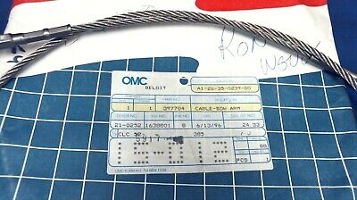 """397704 Bow Arm Cable - 47 1/2"""" Long - Johnson Evinrude OMC"""