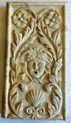 Rare Element of Fountain Carved in Marble Carrara - Renaissance End 16° S