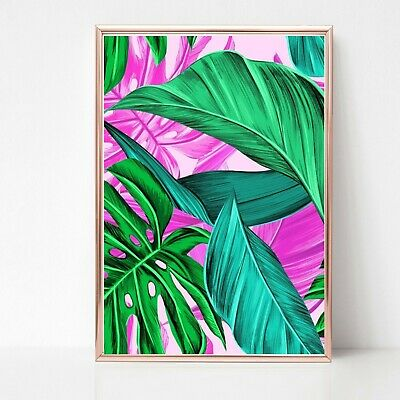 palm leaf leaves print PICTURE WALL ART A4 Botanical plant UNFRAMED tropical 33