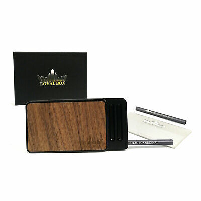 Wood Black Snuff Dispenser Tobacco Box Snorter Kit Collectable Straw Snuffer