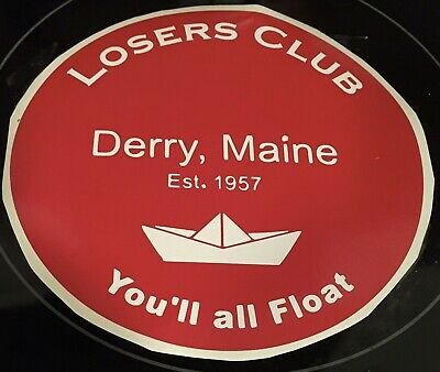 Stephen King IT Losers Club Derry Maine Sticker Decal