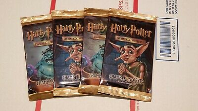 Harry Potter Trading Card Game - FOUR (4) CHAMBER of SECRETS Boosters TCG CCG