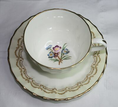 Royal Worcester Cromwell Z 1718  Tea Cup & Saucer  England Bone China