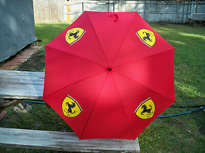 Ferrari S.p.A Umbrella ~ 2002 Authentic ~ Red ~ Large