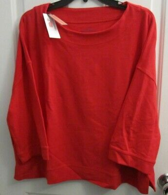 NWT Vineyard Vines WNNS Cropped Sleeve Top in Saltwater Light House Red $68 F38
