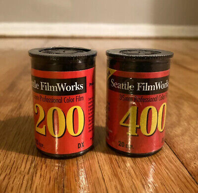 2 Rolls 35mm Professional Color Film Seattle FilmWorks 200 400 (EXPIRED)