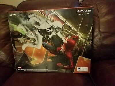 New in Box Sony PlayStation Ps4 Pro 1TB Limited Edition Spider-Man Red Console