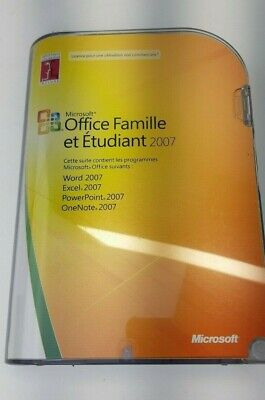 Microsoft Office 2007 Home Student French Francais Famille Etudiant WORD EXCEL