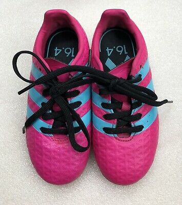 Adidas Girls' Kid Child Soccer Cleats Size 9.5 Color Pink & Blue SGC 753002
