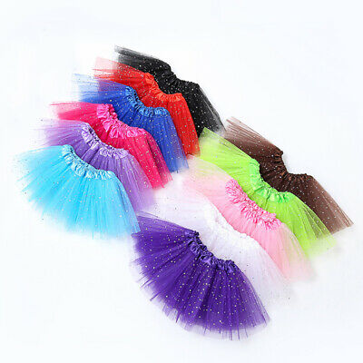Kids Baby Star Glitter Dance Tutu Skirt For Girl Sequin Tulle Toddler Pettiskirt