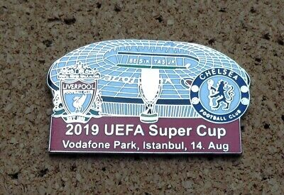 Liverpool v Chelsea - 2019 UEFA Super Cup Pin/Badge (red)