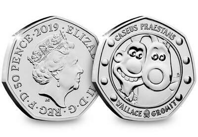2019 Wallace & Gromit 50p Coin Sealed BU Not released For Circulation BUNC