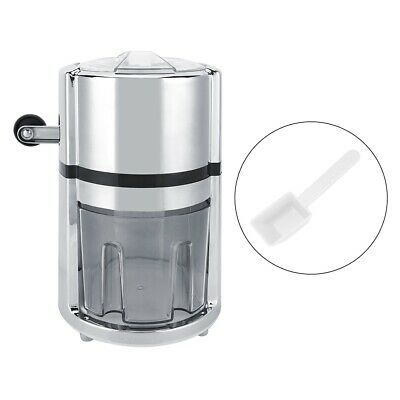 Stainless Steel Round Shape Hand Crank Manual Ice Crusher Shaved Ice Machine HG