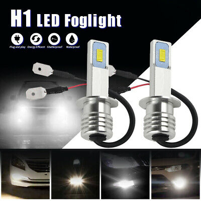 2x H1 6500K 100W LED 20-SMD Projector Car Fog Driving DRL Light Bulbs HID White