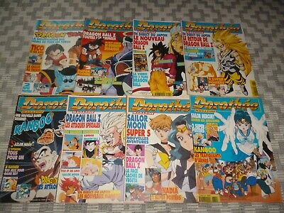 Lot 8 magazines CLUB DOROTHÉE, entre No 380 et 389, DRAGON BALL Z, SAILOR MOON