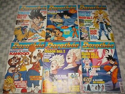 Lot 6 magazines CLUB DOROTHÉE, entre No 390 et 399, DRAGON BALL Z, SAILOR MOON