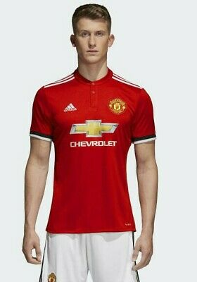 Adidas Manchester United Soccer Football Home Jersey 17/18 Season NWT S BS1214