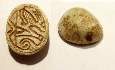 Beetle in Steatite Egypt 664/332 BC - Egyptian Carved Scarab with Hieroglyph