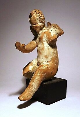 Figure Greek - Cupid - 300/200 BC - Greek Figure - Seated Winged Cupid