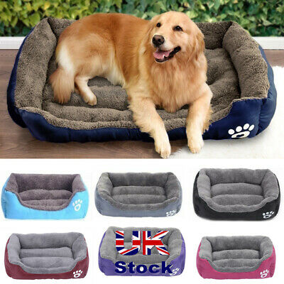 Dog Pet Cat Warm Calming Bed Plush Round Nest Comfy Sleeping Kennel Cave Lodge