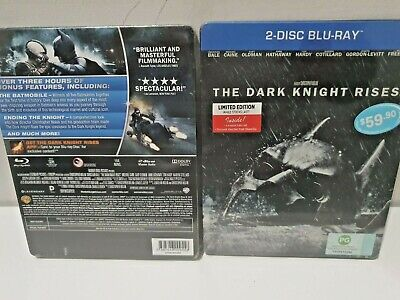 The Dark Knight Rises Limité Steelbook 2-Disc Blu-Ray + Exclusive Film Cell Neuf