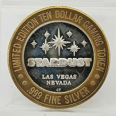 Enter The Night STARDUST RESORT Las Vegas .999 Silver $10 Casino Token