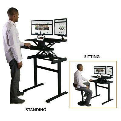 Boost Industries Shallow Depth Sit to Stand Desk/Workstation (STS-FS38C-M)