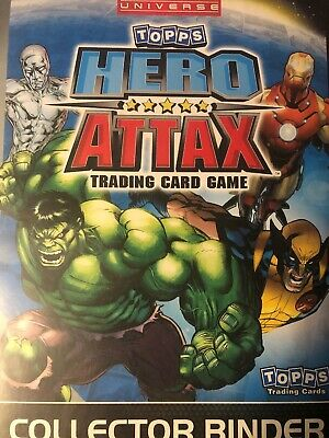 Marvel Universe Topps Hero Attax Trading Card Game Binder And Over 100 Cards