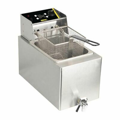 Buffalo Single Fryer with 8L Tank Temperature Control and Digital Timer 6Kw