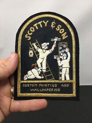 Scotty And Son Bullion Threaded Patch Painting & Wallpapering Vintage Advertise