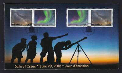 Canada 2018 limited edition FDC sc#3102-3104 Astronomy, booklet/pane pairs