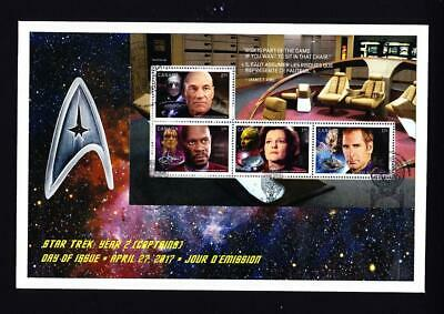 Canada 2017 limited edition FDC S/S from Prestige Booklet, Star Trek 4 Captains