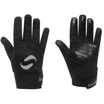 Sondico Field Player Football Gloves Thermal Grip Boys Kids Black 7 to 13 Years