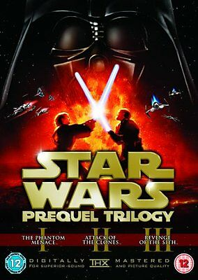 STAR WARS PREQUEL TRILOGY 1-3 Theatrical Remastered 1 2 3 New UK 6 Discs New DVD