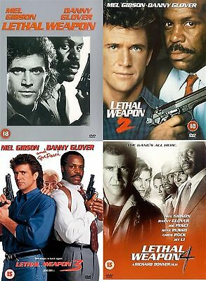 LETHAL WEAPON Season 1-4 Complete Part 1 2 3 4 Richard Donner,Mel Gibson New DVD