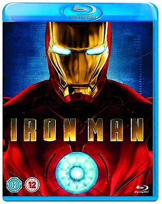 IRON MAN - Robert Downey, Jr., Terrence Howard New UK Complete Bluray Collection