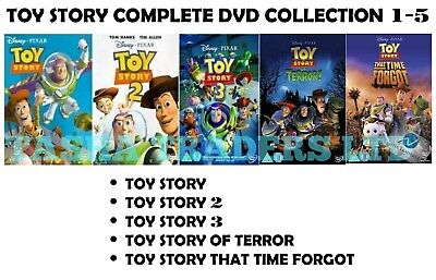 Toy Story 5 Movie Collection Parts 1 2 3 4 Terror 5 Time Forgot New Region 2 Dvd