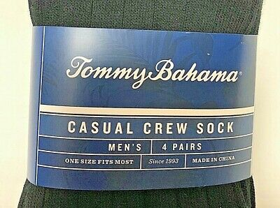 Tommy Bahama Casual Crew Sock Men 4 Pack