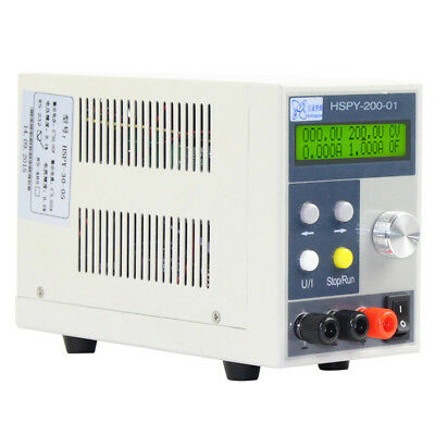 200V/1A LCD Digital Programmable Adjustable DC Power Supply CPU Tracking